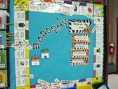 Monopoly: A cute idea for chore chart when kids get older. Classroom Door, Classroom Setup, Classroom Displays, School Classroom, Teachers Corner, Educational Crafts, Teaching Tools, Teaching Ideas, Getting Old