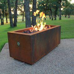 "Bentintoshape 48"" x 20"" Rectangular Fire Pit"