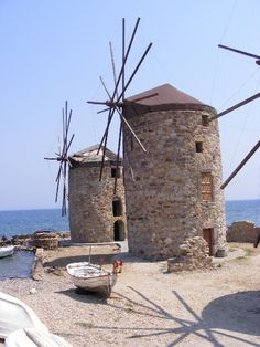 Chios Chios Greece, Old Windmills, Farm Photography, Paradise On Earth, Greece Islands, Costa, Water Tower, Le Moulin, Travel Memories