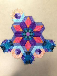 Katja Marek's The New Hexagon - Millefiore Quilt-Along: Rosette 7 complete! by Tracy Pierceall, 2/18/2016