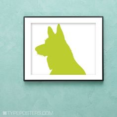 German Shepherd Art Print by TypePosters on Etsy, $15.00