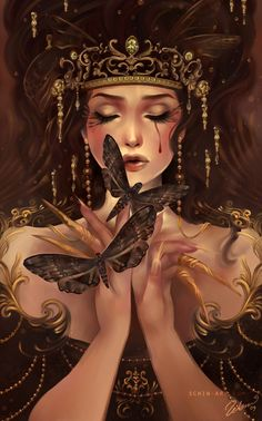 Reflection Schin Loong aka luciole, is an illustrator and graphic artist specializing in fantasy art. Born and raised in Malaysia, Schin Loong currently Digital Portrait, Digital Art, Illustrations, Illustration Art, Unicorn Illustration, Fantasy World, Fantasy Art, Fantasy Queen, Arte Fashion