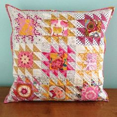Yesterday we posted about an amazing mini quilt made by @creativereveries. Now check out this amazing pillow that she made. #southernfabric #quilting