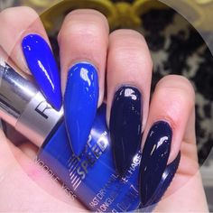 Blue Is The Warmest Color  By: @noodle_yess  You can never go wrong with an all blue set! Just pick your favorite blue polishes and mix and match! For my all blue set I used:  Butler Please by @essiepolish  Superstitious by @revlon  Incognito In Sausalito by @opi_products  Nails by @gracieo27 ---------------------------------------------------------- #nails #nail #fashion #style #hudabeauty #cute #beauty #beautiful #instagood #pretty #girl #girls #stylish #sparkles #styles #gliter #nailart…