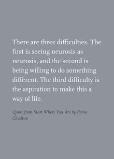 Quote from Start Where You Are by Pema Chodron