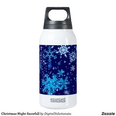 Christmas Night Snowfall Insulated Water Bottle