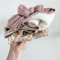 The tiny laundry never ends, but it's just so cute Handmade Hair Bows, Handmade Baby, Toddler Girl Gifts, Fabric Hair Bows, Adjustable Knot, Blush Flowers, Under Dress, Baby Bows, Toddler Fashion