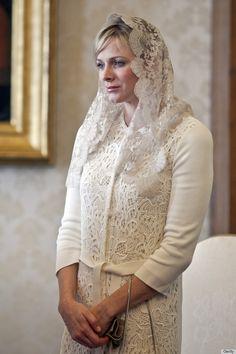 Princess Charlene Breaks Mantilla Tradition at the Vatican - Laura McAlister