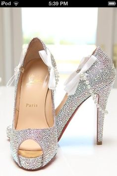 sparkle high heels #shoes