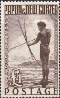 Papua New Guinea 1952 SG 15 Papuan Shooting Fish Fine Used Scott 136 Other European and British Commonwealth Stamps HERE!