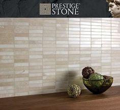 Prestige Stone Latte Marble Linear Mosaic £85.89  price/m2