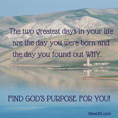 #God'sPurpose For You #Peace #5feet20  Inspirational Photos | Five Feet Twenty