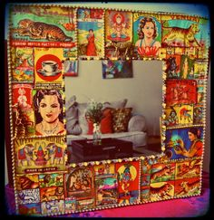 Indian Matchbox Bevel Wall Mirror