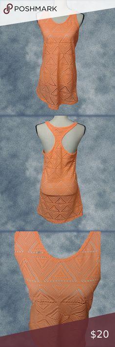 Grace Elements NWT Women/'s XXL Coral Orange Drapey Rayon Knit Swimsuit Coverup