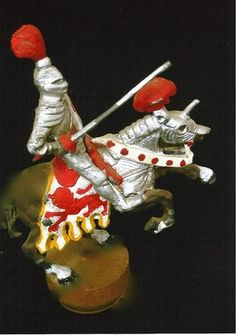 Medieval Horse and Rider Figure Mold Medieval Horse, Make Your Own, How To Make, Mold Making, Metal Casting, Miniatures, Christmas Ornaments, Create, Holiday Decor