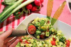 low fat carb rohkost vegan frischer sommersalat roher brokkoli 5