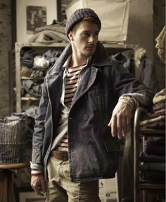 The Art of Layering_Ralph Lauren, Denim & Supply Fall 2011 collection. Look Fashion, Winter Fashion, Fashion Outfits, Fashion Ideas, Mode Masculine, Looks Style, Looks Cool, Guy Style, Men's Style