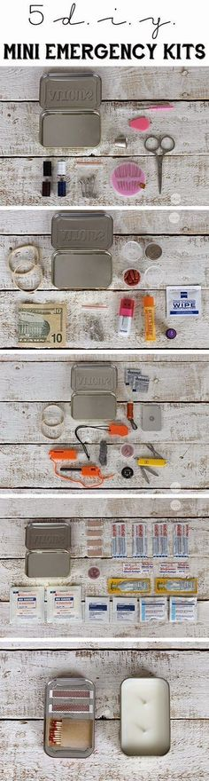 5 DIY Mini Emergency Kits  - One Good Thing by Jillee