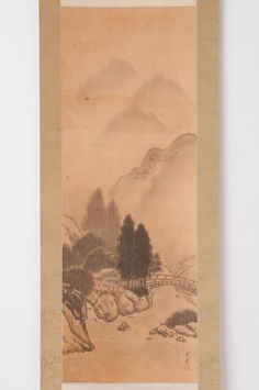 Check out Japanese hanging scroll Landscape painting on silk Antique wall art hs0635  http://www.ebay.com/itm/Japanese-hanging-scroll-Landscape-painting-on-silk-Antique-wall-art-hs0635-/112020072345?roken=cUgayN&soutkn=cwAbFe