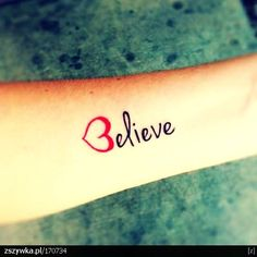 Cute Arm Quote Tattoos for Girls - Red Arm Quote Tattoos for Girls