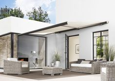 Skab hygge i din have med en flot Faber markise - Outdoor Spaces, Outdoor Living, Outdoor Decor, Hygge, Garden Awning, Pool Shade, Shade Structure, Patio Roof, Pergola Kits