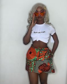 Latest Ankara Shorts To Rock This Christmas - Fashion Ruk African Fashion Ankara, Latest African Fashion Dresses, Ghanaian Fashion, African Inspired Fashion, African Dresses For Women, African Print Fashion, African Attire, African Tops, African Clothes