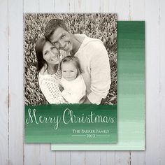 CHRISTMAS Holiday Photo Card Printable Double Sided - Merry Christmas