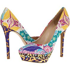 Fantastic tropical print on these Nine West pumps