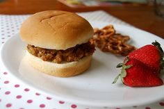 Sloppy Joes...new ingredient is a can of chicken gumbo soup. My sister-in-law was telling me about these - she said they are GREAT!