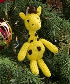 knit giraffe pattern free | ... , New Free Patterns / Georgie Giraffe Ornament Knitting Pattern #knit