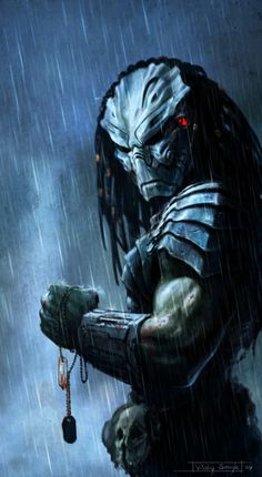 Trophy by on deviantART. I love the entire Predator series. Predator II is a particular guilty pleasure. Predator Movie, Alien Vs Predator, Predator Costume, Predator Series, Predator Helmet, Science Fiction, Cyberpunk, Dragons, Caricatures