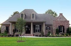 Plan W56367SM: Southern, Photo Gallery, Corner Lot, French Country, European House Plans & Home Designs One Story
