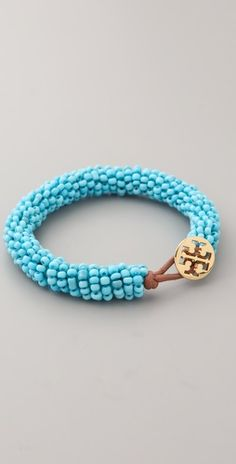 Tory Logo Beaded Bracelet. I want one in every color.