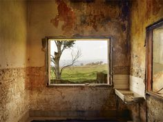 Abandoned Syrian base, View of a minefield, Golan Heights by Shai Kremer