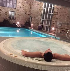 Relax and unwind in our haven of serenity #DevonshireArms #spa #spaday #relax #pool #jacuzzi #hottub #pamper #treatyourself #travel #Yorkshire #YorkshireDales #hotel