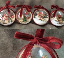 2pcs 6cm Clear Plastic Christmas Balls Wedding Birthday Party Decorations Festive Gift Christmas tree Ornament(China (Mainland))