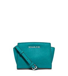 Selma Saffiano Leather Mini Messenger by Michael Kors Gorgeous colour