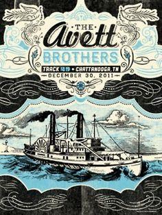 The Avett Brothers - status serigraph