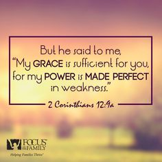 My grace is sufficient