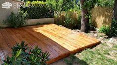 Beautiful Pallet Deck / Terrasse En Palettes Pallet FlooringPallet Terraces & Pallet Patios