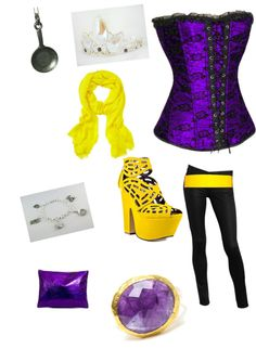 To complete: purple corset, yellow pumps <3
