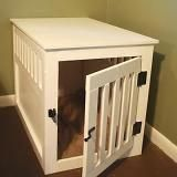 """DIY wooden dog crate, aptly named """"Rory's House"""". This is MUCH more visually pleasing than the ugly wire crate. Diy Dog Kennel, Pet Kennels, Diy Dog Bed, Dog Beds, Puppy Kennel, Pet Puppy, Do It Yourself Furniture, Do It Yourself Home, Diy Furniture"""