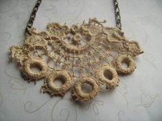 something to make with the vintage doilies from Aunt... ...Doily Necklace by littlemissdressup via alifosterpatterns.com