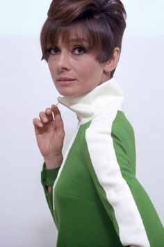 Audrey wearing a Mary Quant mini-dress in a promotional photograph for 'Two For The Road'. Credit: William Klein. This photograph features in the book 'Fashion In Film' by Christopher Laverty. Thank you @timelessaudrey.