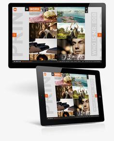 Interaction Design / Mr. Bob Films by Rene Bieder, via Behance