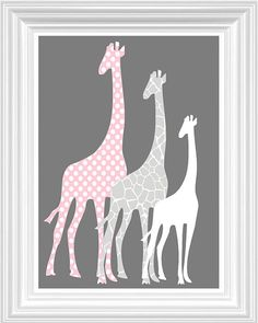 Elephant Giraffe Nursery Decor Perconalized by FMDesignStudio