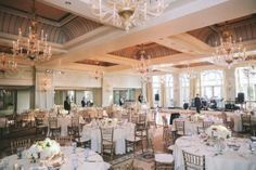 Casa del Mar Santa Monica, weddings, ballroom, whites, golds, chivari chairs, www.christinalogandesign.com