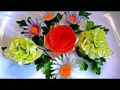Цветы из капусты. Украшения из овощей. Decoration Of Vegetables. Flowers of cabbage - YouTube - TUTORIAL