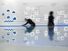 Water Museum / p-06 atelier  infographic wall idea for the foyer