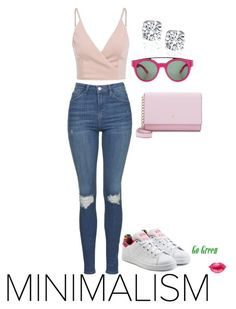 """""""I Believe in pink & love at first sight...x"""" by tyffanie ❤ liked on Polyvore featuring Topshop, Kate Spade, WALL, Givenchy and adidas Originals"""